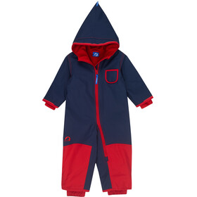 Finkid Pikku Winter Overall Kinderen, navy/red